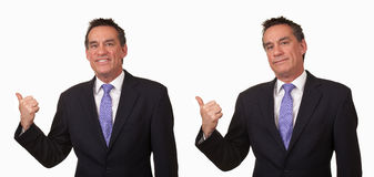 Angry Business Man in Suit Gesturing Get Out Royalty Free Stock Photos