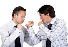 Angry business men fighting Stock Image