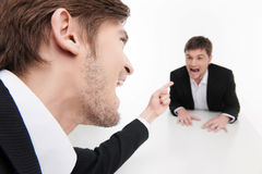 Angry business people. royalty free stock photo