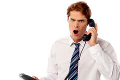Angry business professional yelling Stock Images