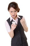 Angry business woman Stock Photography