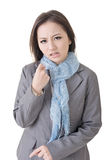 Angry business woman in asia. Stock Image