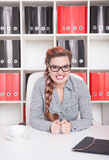 Angry business woman boss in office Royalty Free Stock Photo