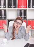 Angry business woman boss Royalty Free Stock Image