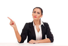 Angry business woman firing someone Royalty Free Stock Photos