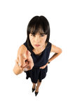 Angry business woman Royalty Free Stock Images