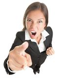 Angry business woman isolated Stock Photography