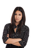Angry business woman portrait royalty free stock photos