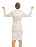 Angry business woman . rear view Royalty Free Stock Images