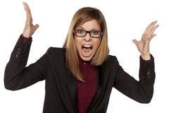 Angry business woman Stock Photos