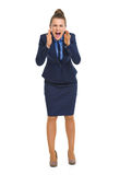 Angry business woman shouting Royalty Free Stock Photo