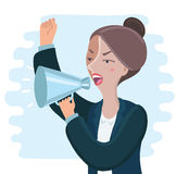 angry Business woman vector illustration