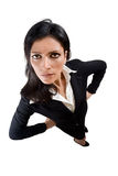 Angry Business woman Royalty Free Stock Photography