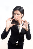 Angry Business woman Stock Image