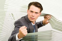 Angry businessman Stock Photos