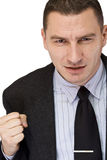 Angry businessman stock photos