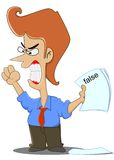 Angry Businessman. A businessman is angry that her staff made a mistake Stock Photo