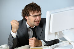 Angry businessman. Horizontal image of angry businessman Royalty Free Stock Photography