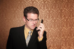 Angry Businessman with Cell Phone Stock Photos