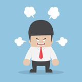 Angry businessman explode his emotion Royalty Free Stock Photography