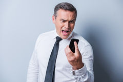 Angry businessman. Stock Image