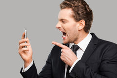 Angry businessman. Royalty Free Stock Photography