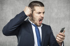 Angry businessman Stock Image