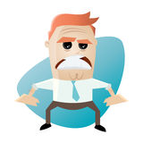 Angry businessman. Illustration of an angry businessman Stock Images