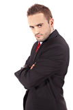 Angry businessman isolated Stock Image