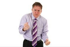 Angry Businessman on Isolated Background Royalty Free Stock Photography