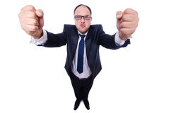 Angry businessman isolated Stock Photography