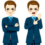 Angry Businessman Late Concept Royalty Free Stock Photos