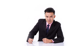 Angry businessman looking at you Royalty Free Stock Photos
