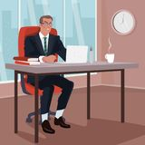 Angry businessman in office Royalty Free Stock Photography