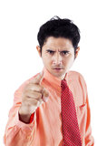 Angry businessman pointing Royalty Free Stock Images