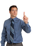 Angry Businessman Pointing Finger Royalty Free Stock Images