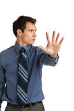 Angry Businessman Pointing Finger Stock Image