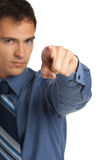 Angry Businessman Pointing Finger Royalty Free Stock Photography
