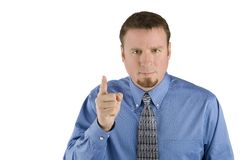 Angry Businessman Pointing Finger Royalty Free Stock Photo
