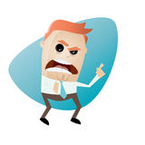 Angry businessman pointing with finger. Illustration of an angry businessman pointing with finger Stock Photo