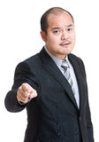 Angry businessman pointing to front Stock Photos