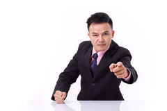 Angry businessman pointing at you Royalty Free Stock Photo