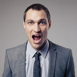 Angry Businessman Screaming Royalty Free Stock Image