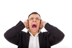 Angry businessman screaming Royalty Free Stock Photo