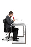 Angry businessman screaming Stock Photography