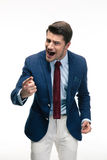 Angry businessman screaming Stock Image