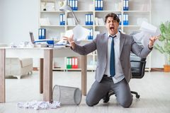 The angry businessman shocked working in the office fired sacked Royalty Free Stock Images