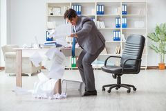 The angry businessman shocked working in the office fired sacked Royalty Free Stock Photos