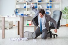 The angry businessman shocked working in the office fired sacked Stock Photography