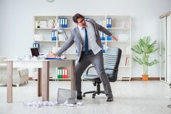 The angry businessman shocked working in the office fired sacked Royalty Free Stock Photography